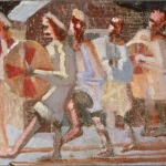 "Drummers, 11"" x 14"", 1982"