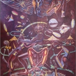 Sacrifice of the Head and Heart, 11' x 17', 1977