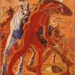 """Warrior, 56"""" x 46"""", 1997"""