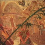 "Pulling the Plants, 20"" x 30"", 1989-90"