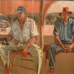"Jacobo and Tio Beto, 20"" x 30"", 1991"