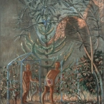 "Couple in the Garden, 54.25"" x 48"", 1985"
