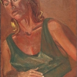 "Alison with Child, 19.75"" x 30.25"", 1993"
