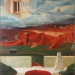 "Cabin in the Sky, 72"" x 52"" 1966"