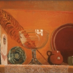 "Still Life with Red, 24"" x 36"", 1990-91"