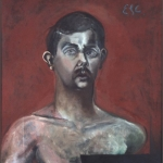 "Self Portrait, 29.25"" x 31"", 1960"