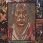 "Self Portrait, 27.25"" x 33.25"", 1993"
