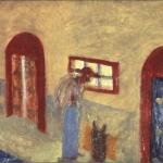 "Street Painter, 10.5"" x 8.5"", 1987"