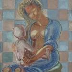 "Madonna and Child, 27.75"" x 30.75"", 1994"