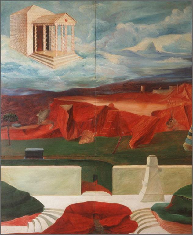 """Cabin in the Sky, 72"""" x 52"""" 1966"""