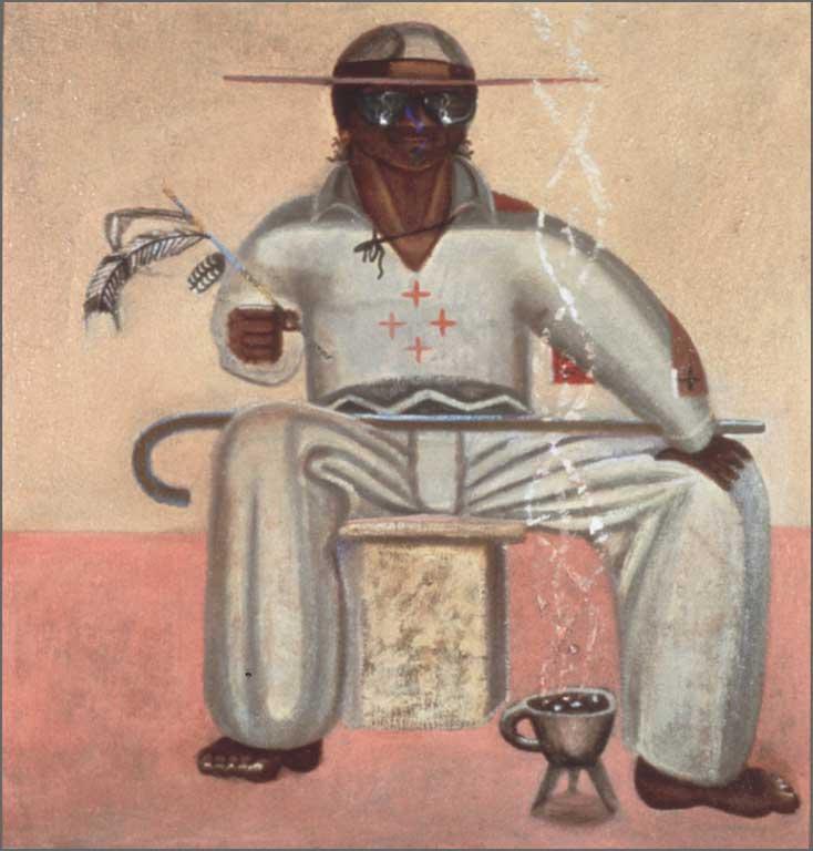 """Hippie Maracame, 30"""" x 36"""", 1982"""