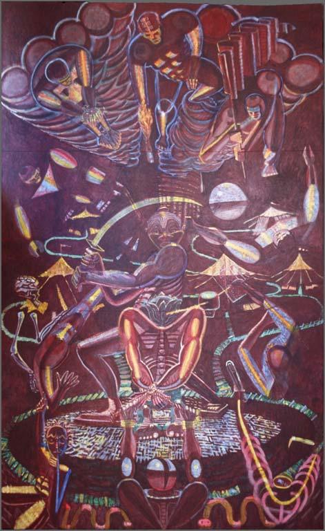 Sacrifice of the Head and Heart, 11' x 17', 1977