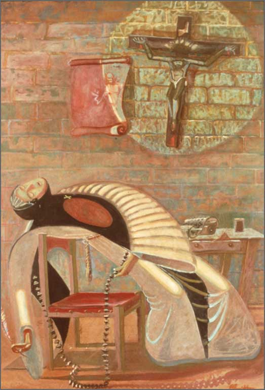 Flight of Sor Juana, 6' x 9', 1982
