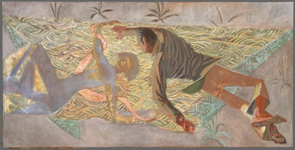 "Reaching for Coatlique, 40.5"" x 83"", 1988"