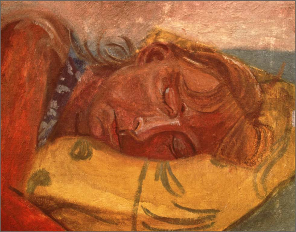 """Ali's Desert Dream, 8"""" x 14"""", 1991"""