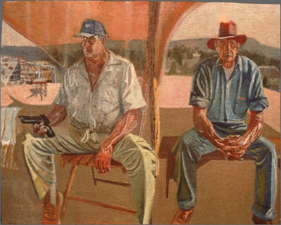 "Jacobo and Tio Beto, 20"" x 30"", 1991"