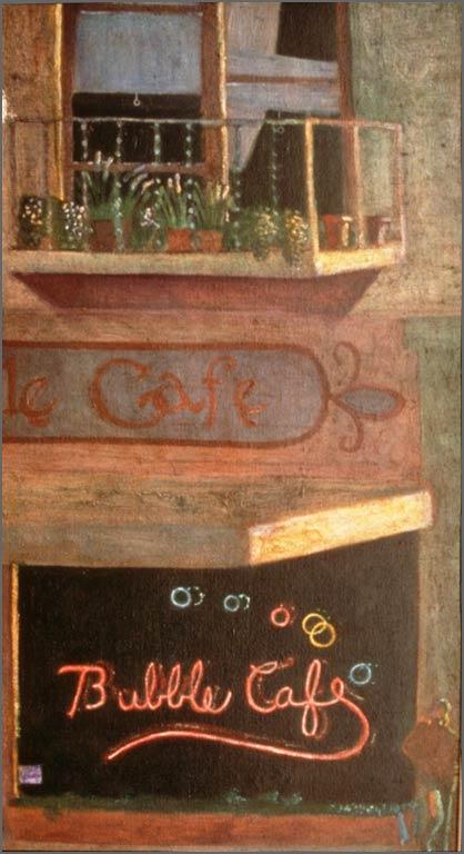"""The Bubble Café,16"""" x 24"""", 1990-91"""