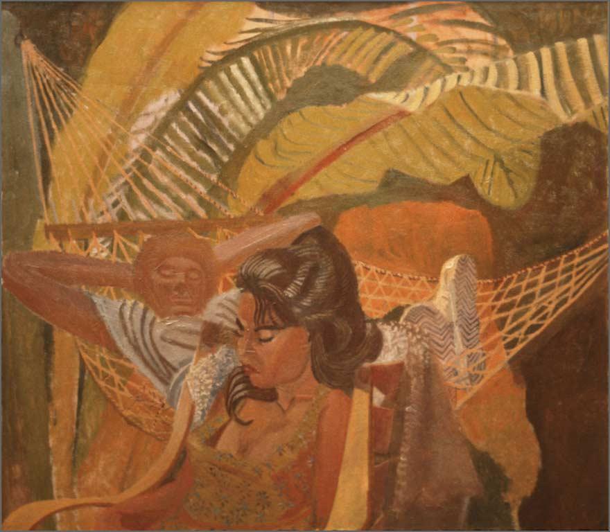 """Juliette and Ruben, 48"""" x 54"""", 1983-92"""