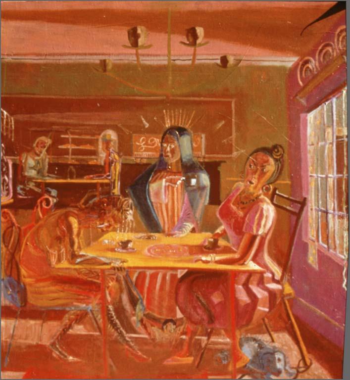 Three Women of Tepeyac, 4' x 4', 1993