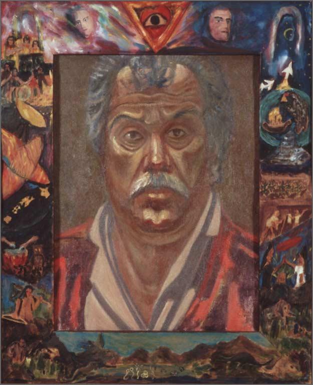 "Self Portrait, 27.25"" x 33.25"", 1993"
