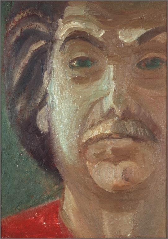 """Partial Self Portrait, 9.5"""" x 13.75"""