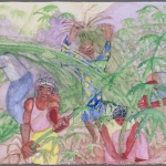Harvesting the plants, 1993