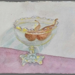 Pears in crystal fruitbowl, 1989
