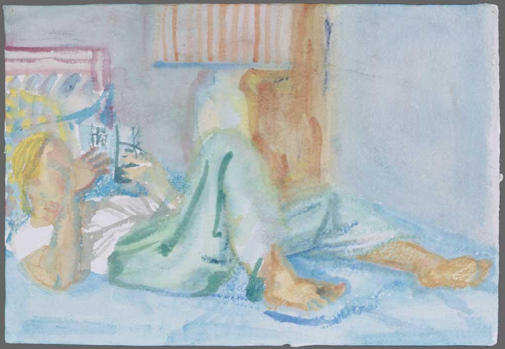 Alison reading, 1993