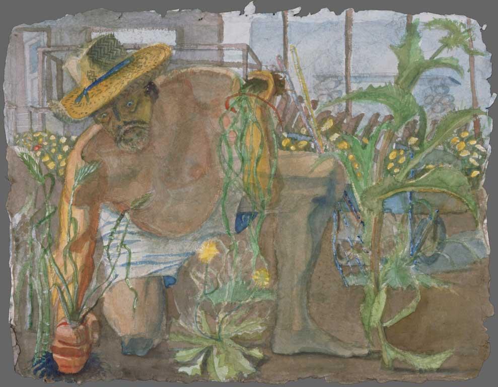 Ed in garden, 1993