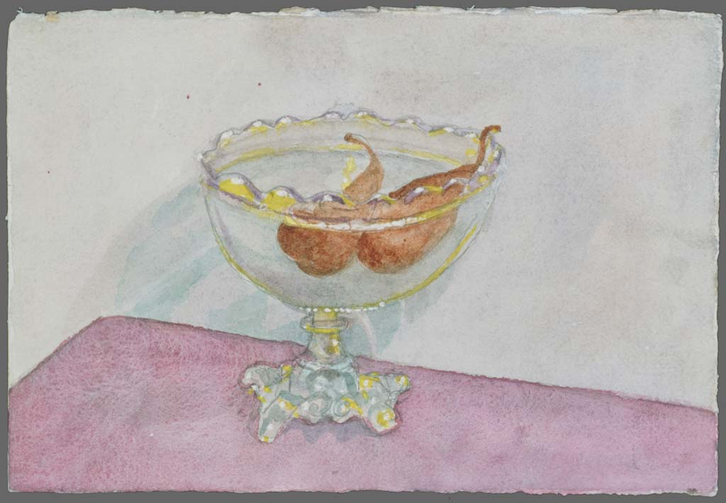 Pears in crystal fruitbowl, 1989