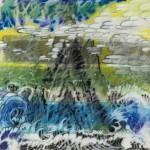 "Cliffs of Bali, 25"" x 25"", 2010 <div id=""copy"">© Howard Kaneg</div>"