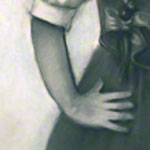 "<div id=""copy"">© Lorraine García-Nakata all rights reserved</div>1960's Self-Portrait<br />7' x 4'2""  Charcoal on Paper, 2008"
