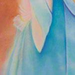 "<div id=""copy"">© Lorraine García-Nakata all rights reserved</div>Diptych: Facio Nova Omnia II: Colonia  (left side)<br />7' x 3' 9""  Pastel On Paper, 2005"
