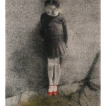 "<div id=""copy"">© Lorraine García-Nakata all rights reserved</div>Diptych: The Red Shoes(left side)<br />7' x 3' 9""  Charcoal/Pastel On Paper, 1990"