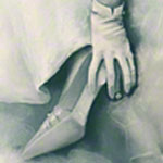 "<div id=""copy"">© Lorraine García-Nakata all rights reserved</div>What, No Quinceañera?<br />7' 4' 2""  Charcoal On Paper, 2008"