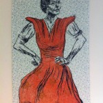 <strong>Louise Couzens</strong> National Women's Month 2013, 33x52, Woodblock and mono-print on cotton