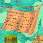 """The Children of Octavio Paz, Diptych/Image Two"", <br />acrylic and graphite on paper, 2009 <div id=""copy"">© José Lozano</div>"