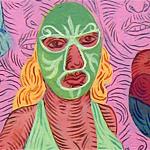 """""""Mother/Daughter"""", acrylic on paper, 2005 <div id=""""copy"""">© José Lozano</div>"""