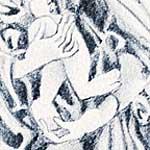 """""""Madonna con Columnas de la Humanidad"""", 1975 <div id=""""copy"""">© Linda Vallejo</div>"""