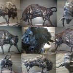 "<strong>Alexander Khah</strong>,    <em>My Other Half</em> , 50""x73""x38"" recycled scrap steel"