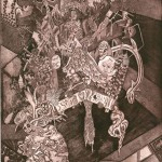 "<strong>Caetano Gil Santos</strong> <em>Untitled</em>,  22""x30"" Intaglio etching with aquatint, white ground, & deep biting"