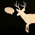 "<strong>Darrell McKelvie Ruppel</strong>   <em>Elongated Deer</em>, 48""x72"" Lasercut Mahogany"