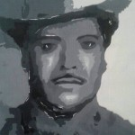 """<strong>Michelle Bueno</strong>  <em>Marciano Vasquez</em>, 21.5""""x12.5"""", acrylic"""