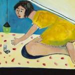"""Under the Bed"", acrylic on canvas, 18"" x 24"", 2014<div id=""copy"">© Myra Eastman</div>"