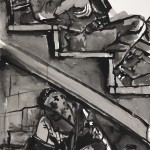 """""""Soldier and Woman"""", ink on paper, 18"""" x 24"""", 2005<div id=""""copy"""">© Myra Eastman</div>"""