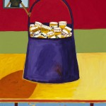 """Purse of Pills"", acrylic on canvas, 18"" x 24"", 2014<div id=""copy"">© Myra Eastman</div>"