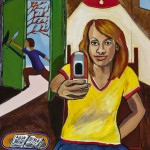 """Cell Phone"", acrylic on canvas, 18"" x 24"", 2014<div id=""copy"">© Myra Eastman</div>"