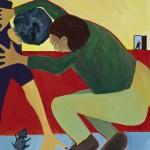 """""""The Struggle"""", acrylic on canvas, 18"""" x 24"""", 2014<div id=""""copy"""">© Myra Eastman</div>"""