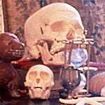 """Venus Envy Chapter II: Sor Juana's Library"" - desk<div id=""copy"">© Amalia Mesa-Bains</div>"