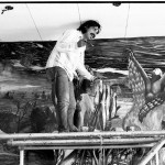 Painting Chicano History Mural at UCLA